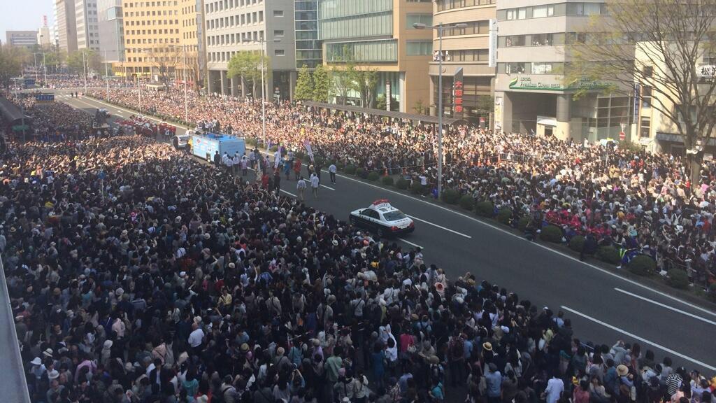 羽生結弦仙台パレード観衆