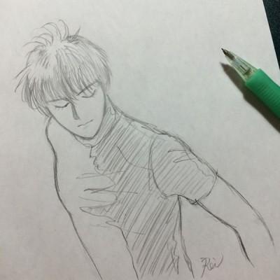 鉛筆描き羽生結弦イラスト